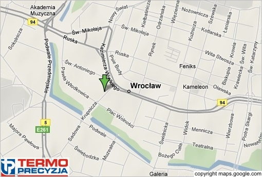 Termo Precyzja / Thermo Sensors - City: Wroclaw, street: Krupnicza 7,Country: Poland image map